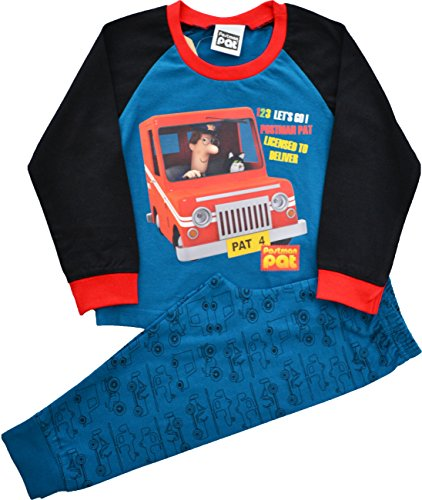 Image of Boys Postman Pat Snuggle Fit Pyjamas Size 4-5 Years