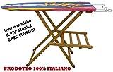 Asse Tavola Tavolo da stiro in legno massello di faggio levigato Noce marrone modello lusso