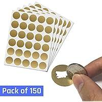 DIY Cartes à gratter (Scratch Card) Autocollant - 2.5cm Or Cercle, Paquet de 150