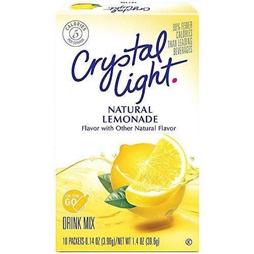 Crystal Light Natural Lemonade Drink Mix 10 packets ( 1 Box ) by Crystal Light