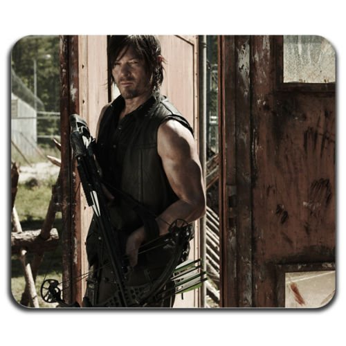 daryl-dixon-crossbow-dead-zombie-cool-computer-mouse-pad-washable-mat