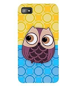 Fuson 3D Printed Owl Designer back case cover for Blackberry Z10 - D4348