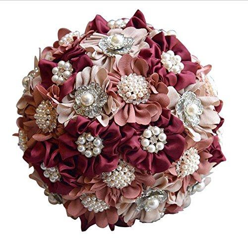 Simulation mousse Roses mariée tenant des fleurs Bouquet de mariage fleur artificielle Bouquet de mariée mariage cadeau Aristocrat