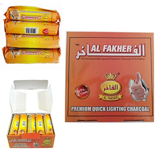 80-dics-charcoal-al-fakher-quick-lighting-shisha-hookah-8-roll-coal-disc-briquet-box