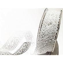 Bertie s Bows blanco Crochet 22 mm encaje – por metro (este es un