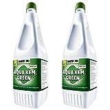 2x Sanitärflüssigkeit 1,5 L Aqua Kem Green Thetford