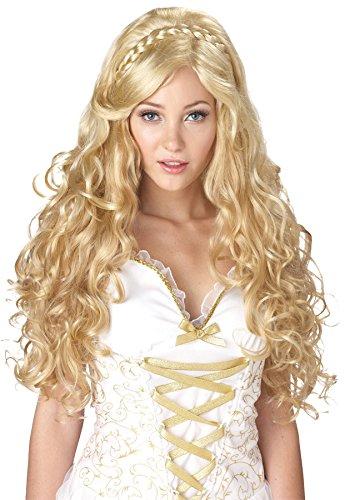 Antike Göttin Perücke blond mit Locken ()