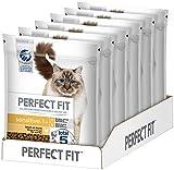 PERFECT FIT Katzenfutter Trockenfutter Sensitive ohne Weizen & Soja für optimale Verdauung Adult 1+ Reich an Huhn, 6 Beutel (6 x 750g), 4500 g