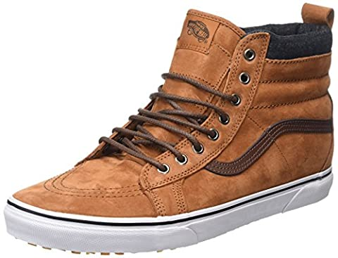 Vans sk8-Hi, Sneakers Hautes Mixte Adulte, Marron (Mte Glazed Ginger/Plaid), 38 EU