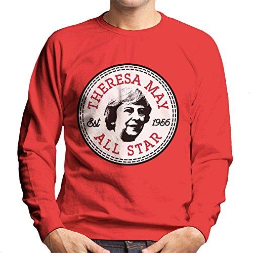Theresa May All Star Converse Logo Men's Sweatshirt