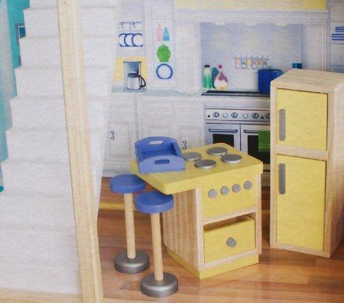 Play Wonder Dollhouse Wood Kitchen Accessory 5 Piece Set