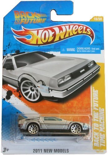 Hot Wheels 2011-018 - 1981 DeLorean DMC-12 SILBER Back To The Future Time Machine Maßstab 1:64 (Back To The Future Time Machine)