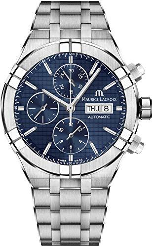 Reloj Automático Maurice Lacroix Aikon Chronograph, Azul, Brazalete de acero