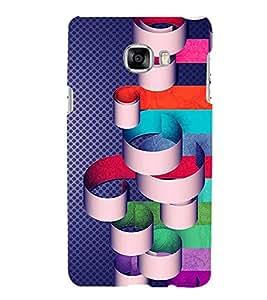 PrintVisa Designer Back Case Cover for Samsung Galaxy C5 SM-C5000 (white blue grey red unique )