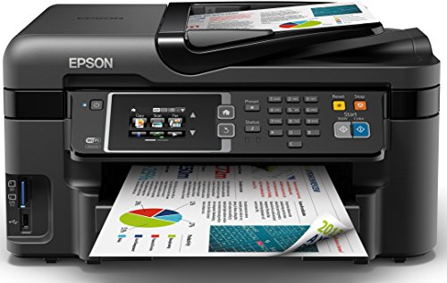 Epson WorkForce WF-3620DWF A4 Duplex 4-in-1 Small Printer with Wi-Fi and AirPrint - Black