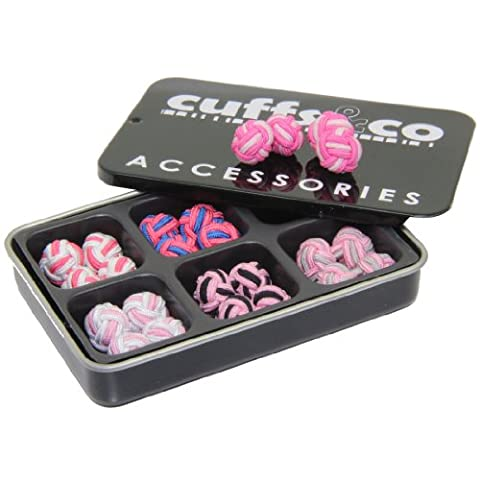Pink Twist Silk Knot Cufflinks Gift Set | Cuffs & Co