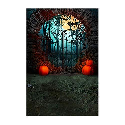 YWLINK 90x150cm Fotografie Hintergrundtuch Halloween-Kulissen 3x5FT Kamin Hintergrund Fotostudio(B,90x150cm)