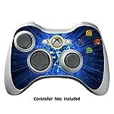 Xbox 360 Controller Designfolie Sticker - Vinyl Aufkleber Schutzfolie Skin für Xbox 360 Controller - Blue Explosion