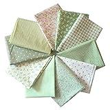 Souarts 10 Stück Stoffpakete DIY Kleine Blume Muster