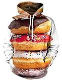 BFUSTYLE Fuuny Essen Donut Druck PulloverHoodies Manteljacke Paar