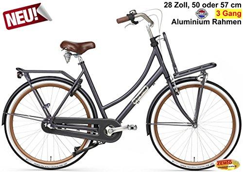 Plezier Damen Hollandrad 3-Gang Daily Dutch Prestige Petrol 57cm