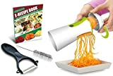 Newest & Improved Spiralizer Spiral Slicer Complete Bundle - Vegetable Cutter - Zucchini Pasta Noodle Spaghetti Maker
