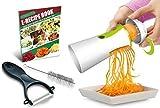 Newest & Improved Spiralizer Spiral Slicer Complete Bundle - Vegetable Cutter - Zucchini Pasta Noodle Spaghetti Maker
