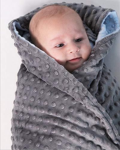 GBLANK Doudou bébé Couverture en Tricot de Coton pour Nouveau-né/Nourrisson/Kids Super Play Mat Double Couche, Respirant Doux Confortable