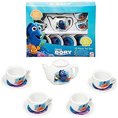 Playset té Finding Dory Con Tetera + tazas + platillos Niños Porcelana Disney
