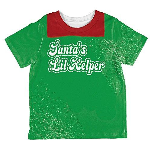 Weihnachten Santas Lil Helper Daddy Lil Monster Kostüm aller Kleinkind T Shirt Multi 2 (Monster Kostüme 2t)