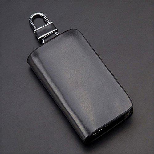 Auto Schlüsselbox, Auto Schlüssel Fob Karte Münze Brieftasche Fahrzeug SUV Fern Tragetasche Schlüsselanhänger Halter Leder Veranstalter