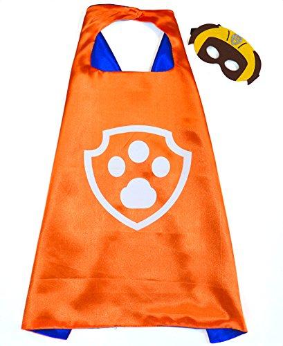Paw Patrol Zuma Cape und Maske - Superhelden-Kostüme für Kinder - Kostüm für Kinder von 3 bis 10 Jahre - für Superheld Mottopartys! Spielsachen für Jungen und Mädchen - King (Skye Kostüme Patrol Paw)