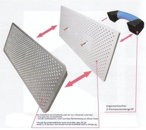 WDVS Porenbeton Schleifbrett mit verz. Stahlblech-Raspelbelag - 380x160mm - Raspelbrett mit verzinktem Stahlblechbelag - Egalisierungsbrett