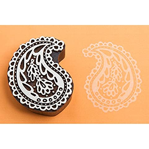 Blockwallah Block Stamp-Lace Paisley