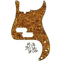 IKN estándar P Bass Golpeador para estilo de precisión Bass 13agujeros con tornillos, Brown Pearl