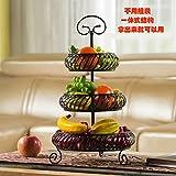 Multi Layer Mode Kreative Obstteller, Wohnzimmer, Küche, Abstellraum, Drei Layer Trockene Frucht Snack Becken, Schwarz