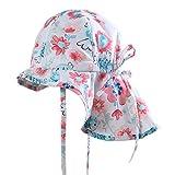Boomly Baby Sonnenhut Sommer Quick Dry Schirmmütze mit Nackenschutz Outdoor Reise UV Schutzkappe Sommermütze mit Kinnriemen