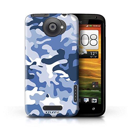 Kobalt® Imprimé Etui / Coque pour HTC One X / Vert 2 conception / Série Armée/Camouflage Bleue 1