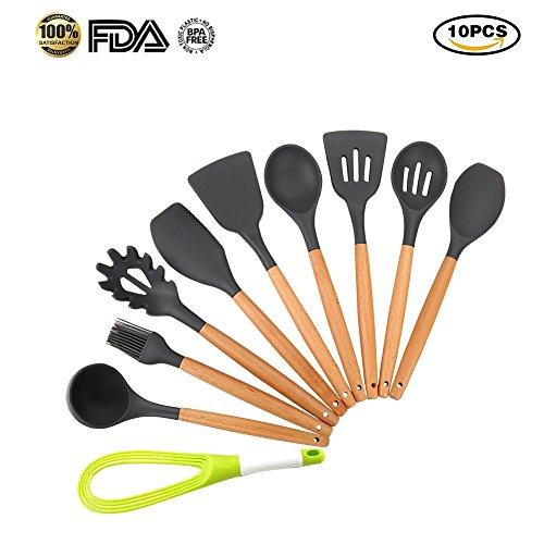 Utensili da cucina in silicone da 10 pezzi mreechan set for Set utensili da cucina