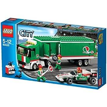 Lego City Formula 1 Truck 60025 Amazon Co Uk Toys Games