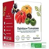 Cultivea – Mini Kit Huerto de Tomates Arcoíris – 100% Semillas Bio - Jardina, Decora y Degusta - Idea de Regalo (Cebra Negra