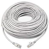 link-e: Cable Red RJ45100m Cat. 6Gris, Ethernet, Calidad Pro, Alta Velocidad, conexión Internet Box, TV, PC, Consola, PS4, PS3, Xbox, Switch, Router, Modem, Caja ADSL.