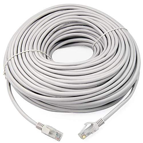 Link-e Netzwerkkabel, RJ45, 100 m, Cat. 6, Grau, Ethernet, Profiqualität, High Speed, Verbindung Internet Box, TV, PC, Konsole, PS4, PS3, Xbox, Switch, Router, Modem, ADSL-Gehäuse -