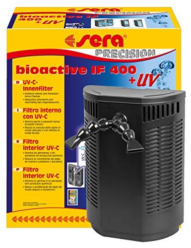sera bioactive IF 400 + UV ein vielseitiger Innenfilter mit UV-C-System 5 Watt für Aquarien bis 400 l ein Algenvernichter der Keime, Parasiten und Algen auf physikalische Weise reduziert
