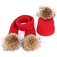 BLACK ELL Gorros de algodón de Punto para niños, cálidos y cómodos, otoño e Invierno, Mapache fu, 7