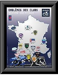 Ligue Nationale de Rugby - Collection de pins emblèmes des équipes du PRO D2 - 2017/18