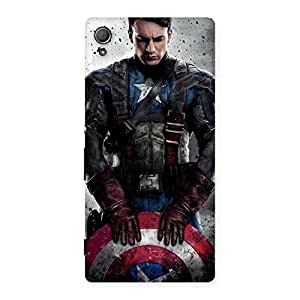 Beautiful Shield Man Back Case Cover for Xperia Z4