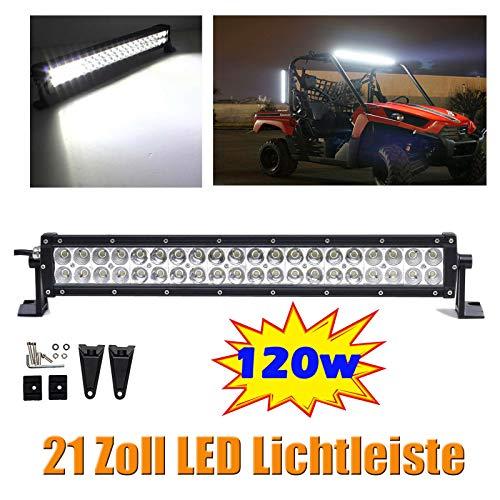 21-Zoll-120W LED Light Bar Punkt-Flut-Combo Strahl Offroad Fahren Lampe 6000K Super helles weißes Licht für SUV LKW-Boa -