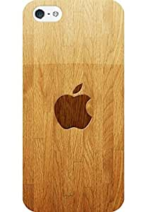 AMEZ designer printed 3d premium high quality back case cover printed hard case cover for Apple iPhone 5S (Apple On Wooden)