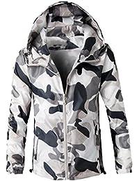 Ropa de abrigo para hombre, RETUROM Chaqueta encapuchada de la capa del camuflaje de los hombres de la manera